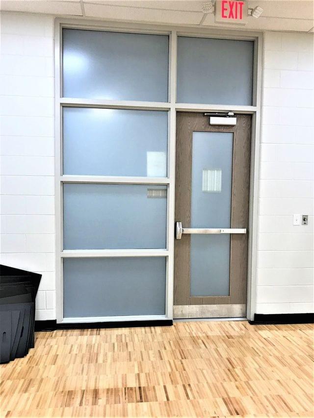 privacy window film on door