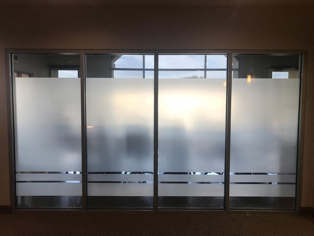 privacy window film for conference room