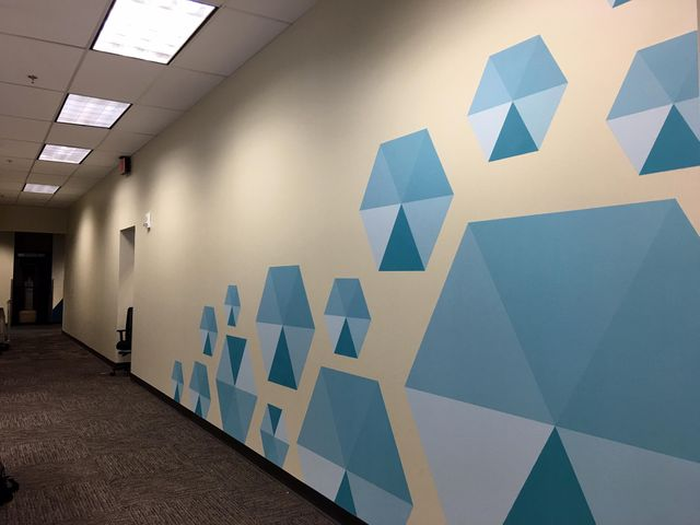 blue wall graphics