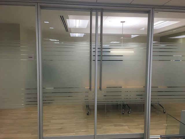 gradient window film for office