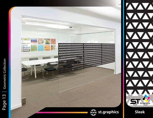 geometric patterned decorative film