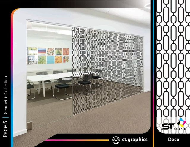 geometric decorative window film