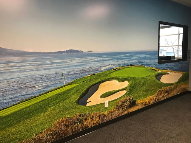 custom wall wrap of golf course