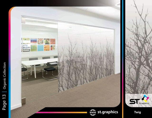 Organic decorative window film ST Graphics