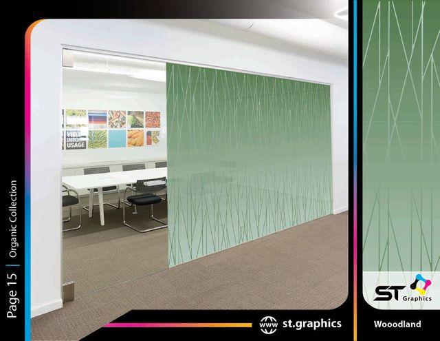 organic decorative window films ST Graphics