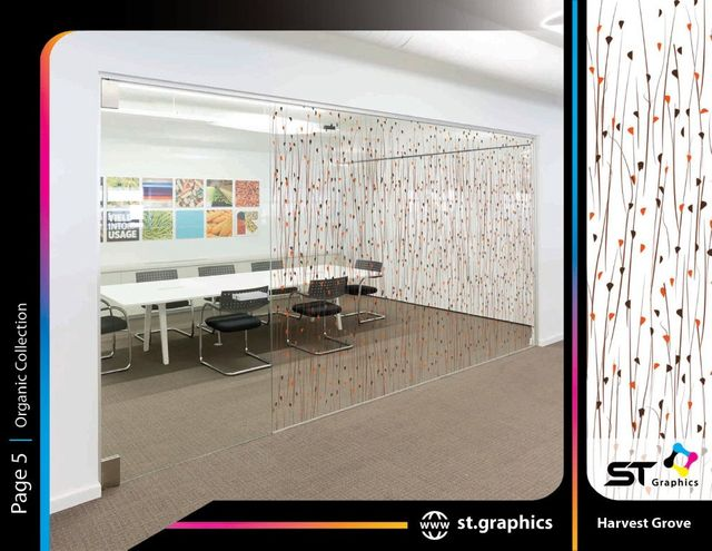 Organic decorative window film from ST Graphics