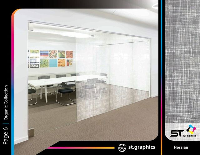 organic decorative window film ST Graphics