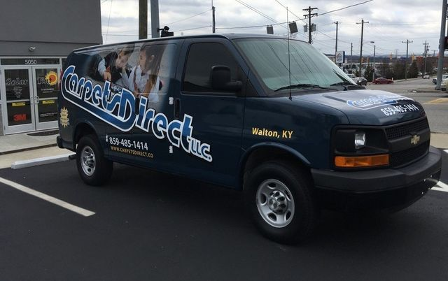 van with vehicle wrap