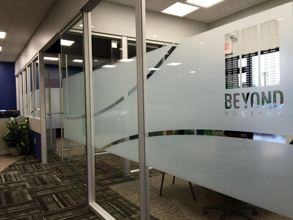 custom privacy film for office in cincinnati ohio